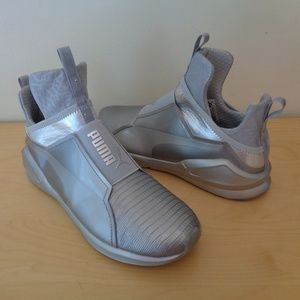 PUMA Fierce Metallic Training Sneakers Silver NEW